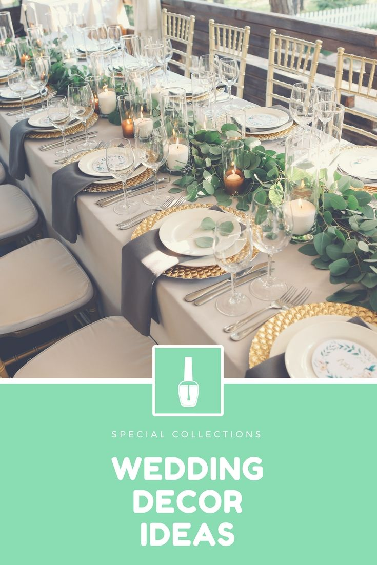 Wedding reception wedding decorations 2018  Design Your Personal Wedding Reception By Using These New Cheap