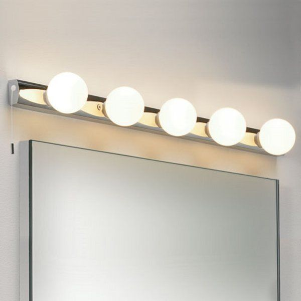 Cabaret 5 Bulb Theatrical Style Bathroom Wall Light Ip44 Dressing Room Mirror Bathroom Lights Over Mirror Mirror With Lights