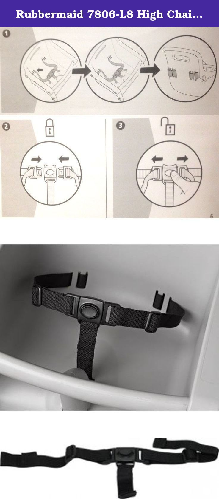 Rubbermaid 7806 L8 High Chair Replacement 3 Point Strap