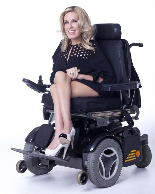 Disabled woman has sex