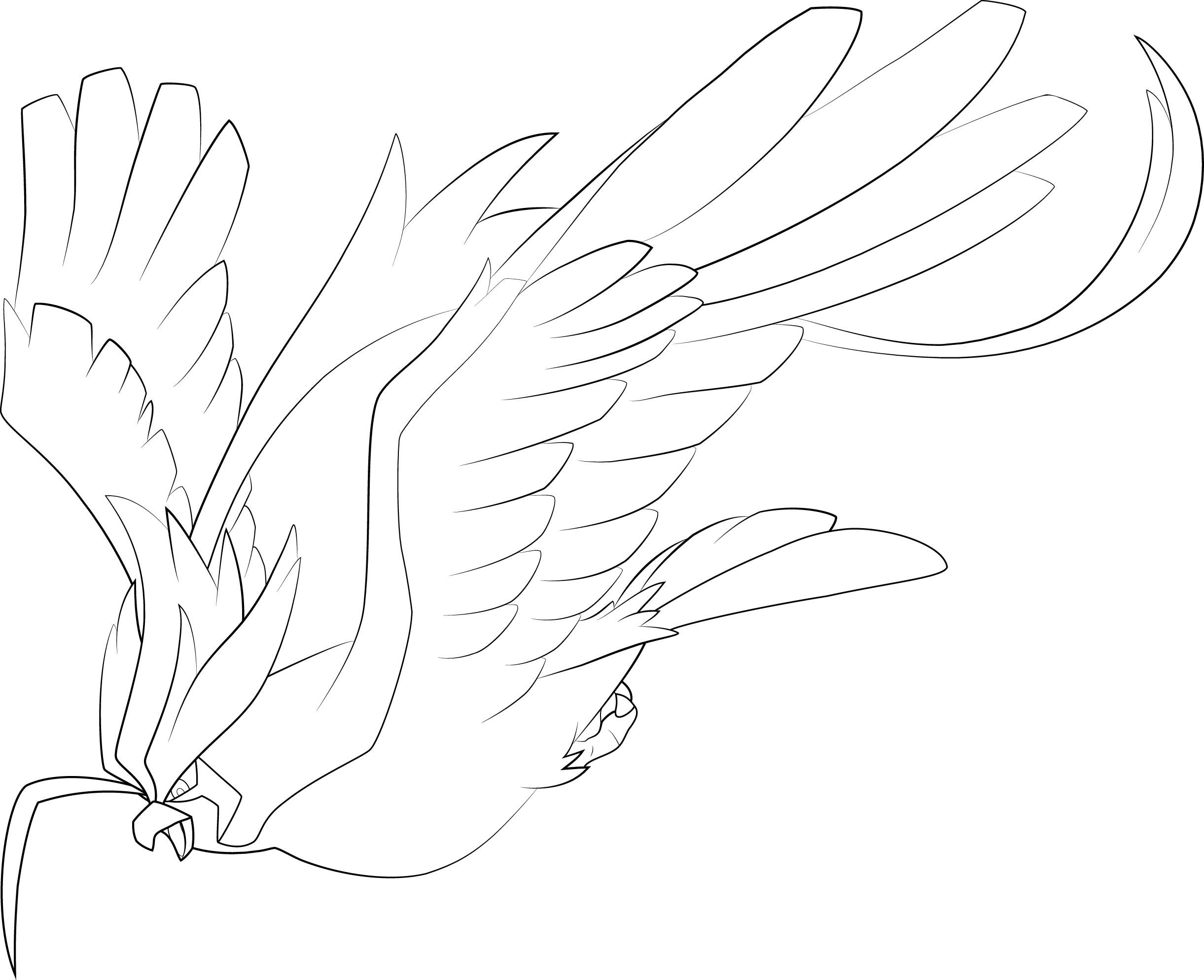 Pokemon Ausmalbilder Bisaflor : Mega Pidgeot Line Art By Alcadeas1 Lineart Pokemon Detailed