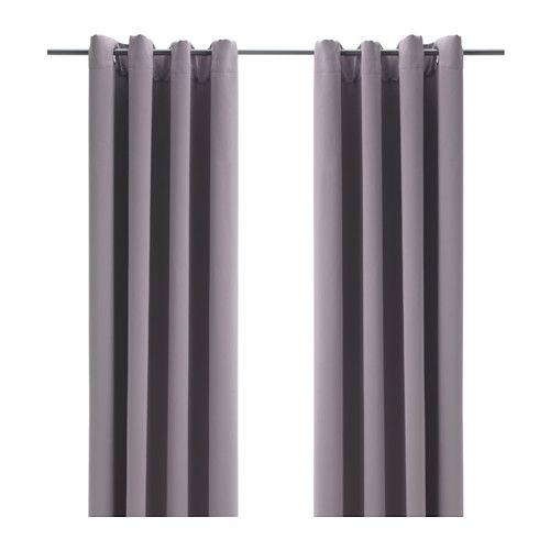 Bollolvon Room Darkening Curtains 1 Pair Gray 57x98 Ikea Blackout Curtains Curtains Block Out Curtains