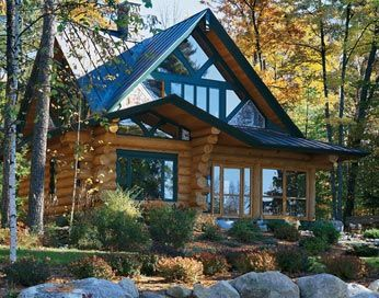 Log Home Style Mountain Chalet Cabin Mountains And