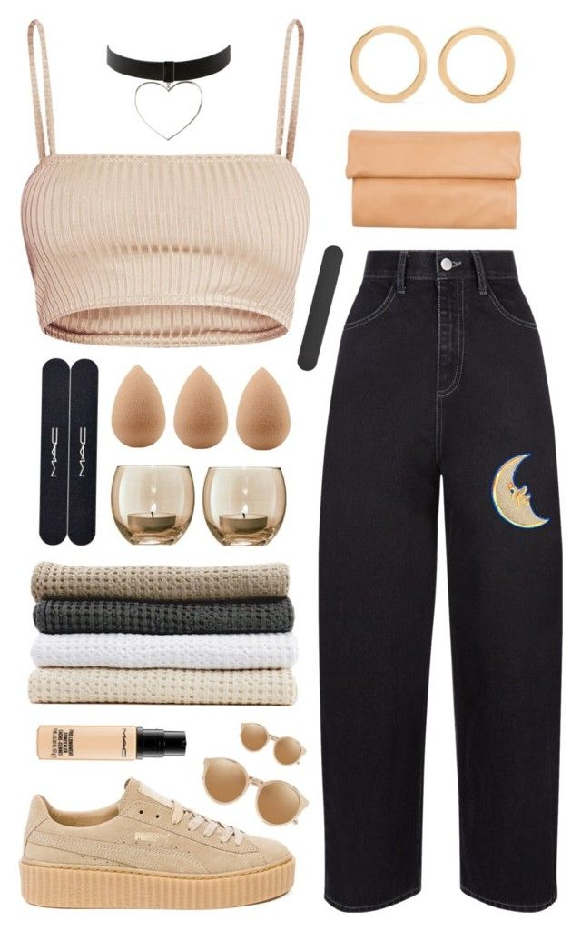 only those who care about you can hear you when you're quiet. by taraturk on Polyvore featuring moda, Puma, 1&20 Blackbirds, Melissa Joy Manning, Linda Farrow, MAC Cosmetics, beautyblender, Abyss & Habidecor and LSA International