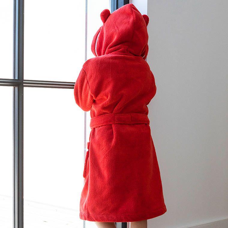 Robe De Chambre Enfant Yaka Rouge Peignoir Homewear Maison Cosy Enfant Robe De Chambre Enfant Robe De Chambre Chambre Enfant