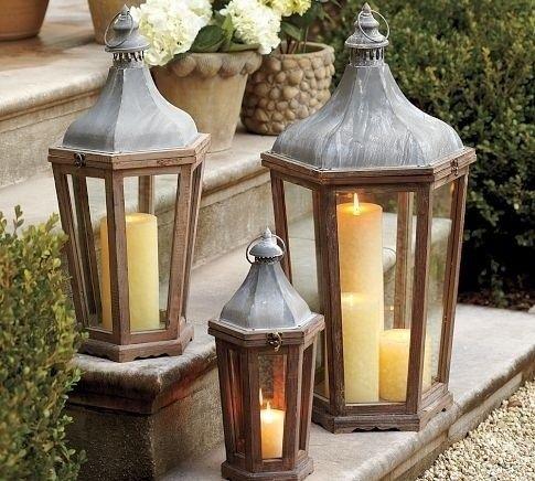Love The Three Lantern Grouped Together Lanterns Decor