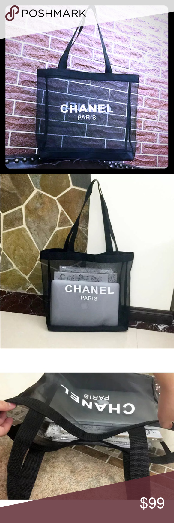 CHANEL VIP GIFT TOTE This Chanel tote has been given to its VIP customers as a gift. Never worn but comes with no tags. Perfect to store make up, as a beach bag or a shopping tote. CHANEL Bags Totes
