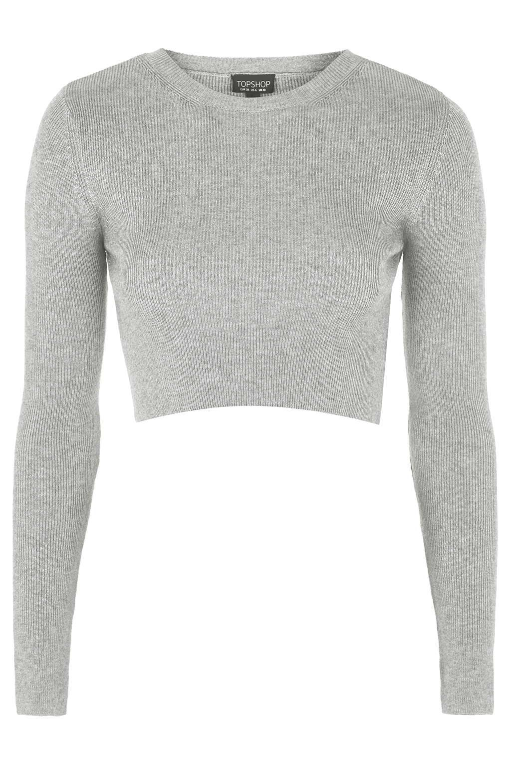 buy separation shoes biggest discount Photo 1 of Ribbed Crew Neck Cropped Jumper | Cropped sweater ...