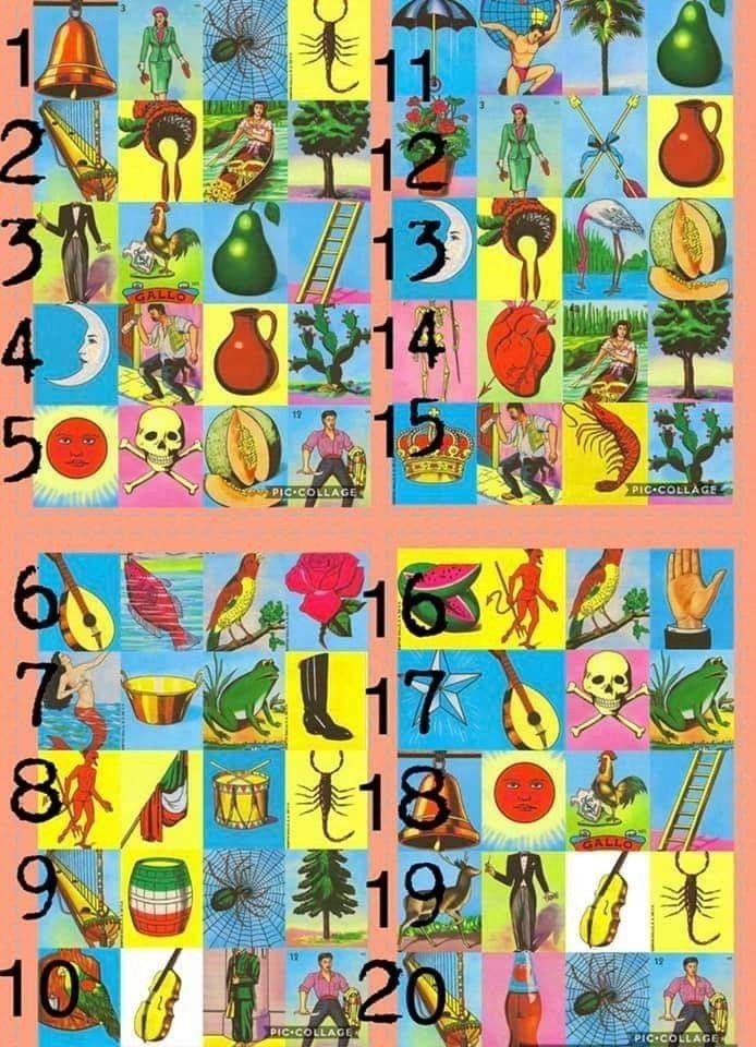 Loteria board 1-54