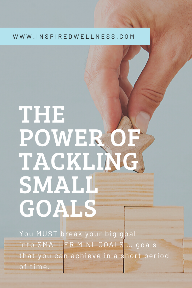 The Power of Tackling Small Goals You MUST break your big goal into SMALLER MINIGOALS  goals that you can achieve in a short period of time
