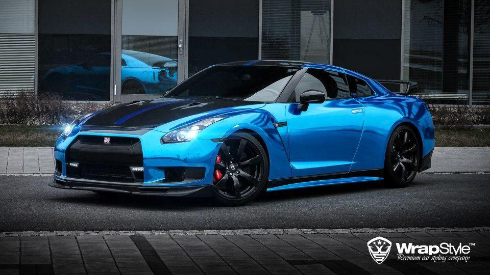 Blue Chrome Nissan Gtr Gt R Pinterest Nissan And Blue