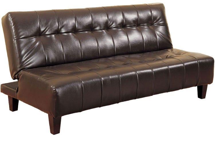 Elegant Leather Futon Sofa Bed