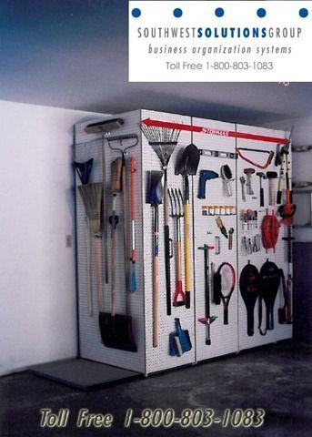 Pegboard Storage For Garages Home Garage Racks Hanging Organization Rakes Shovels Peg Board