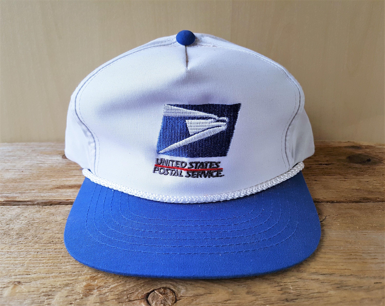 United States Postal Service Usps Vintage 90s Snapback Hat Rope Lined 2 Tone Baseball Cap Mail Delivery Promo Ballcap Snapback Hats Hats Ball Cap