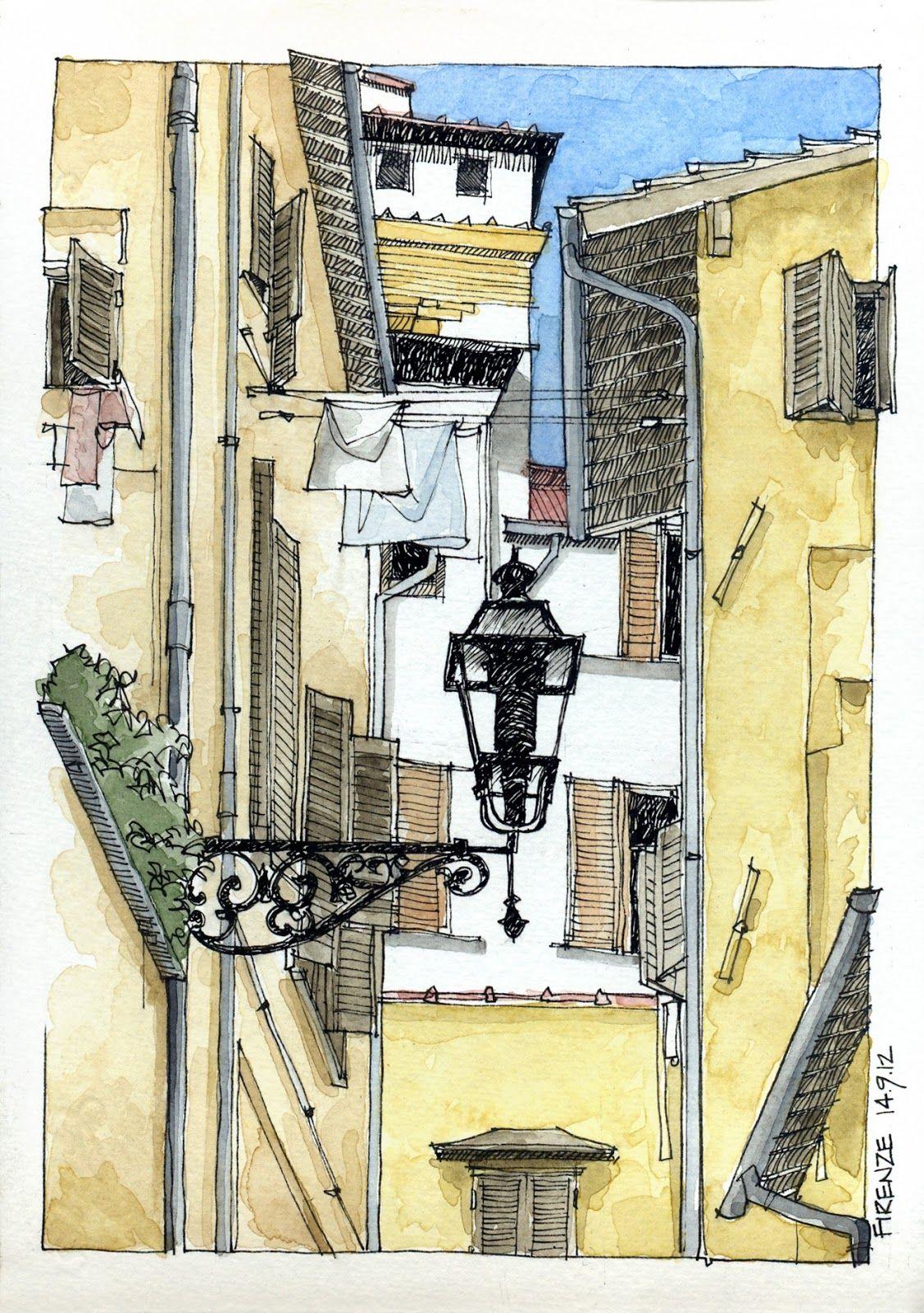 JR Sketches Italia 6u00ba Set 2012. 17x24 Pen U0026 Watercolor   Sketchbook   Pinterest   Italia ...