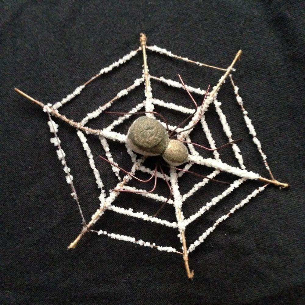 Czech 'Spider Web' Spun Cotton Christmas Ornament ...