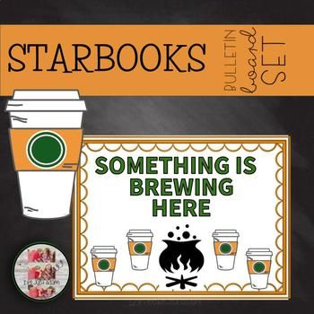 COFFEE THEMED OCTOBER HALLOWEEN FALL BULLETIN BOARD STARBOOKS Editable