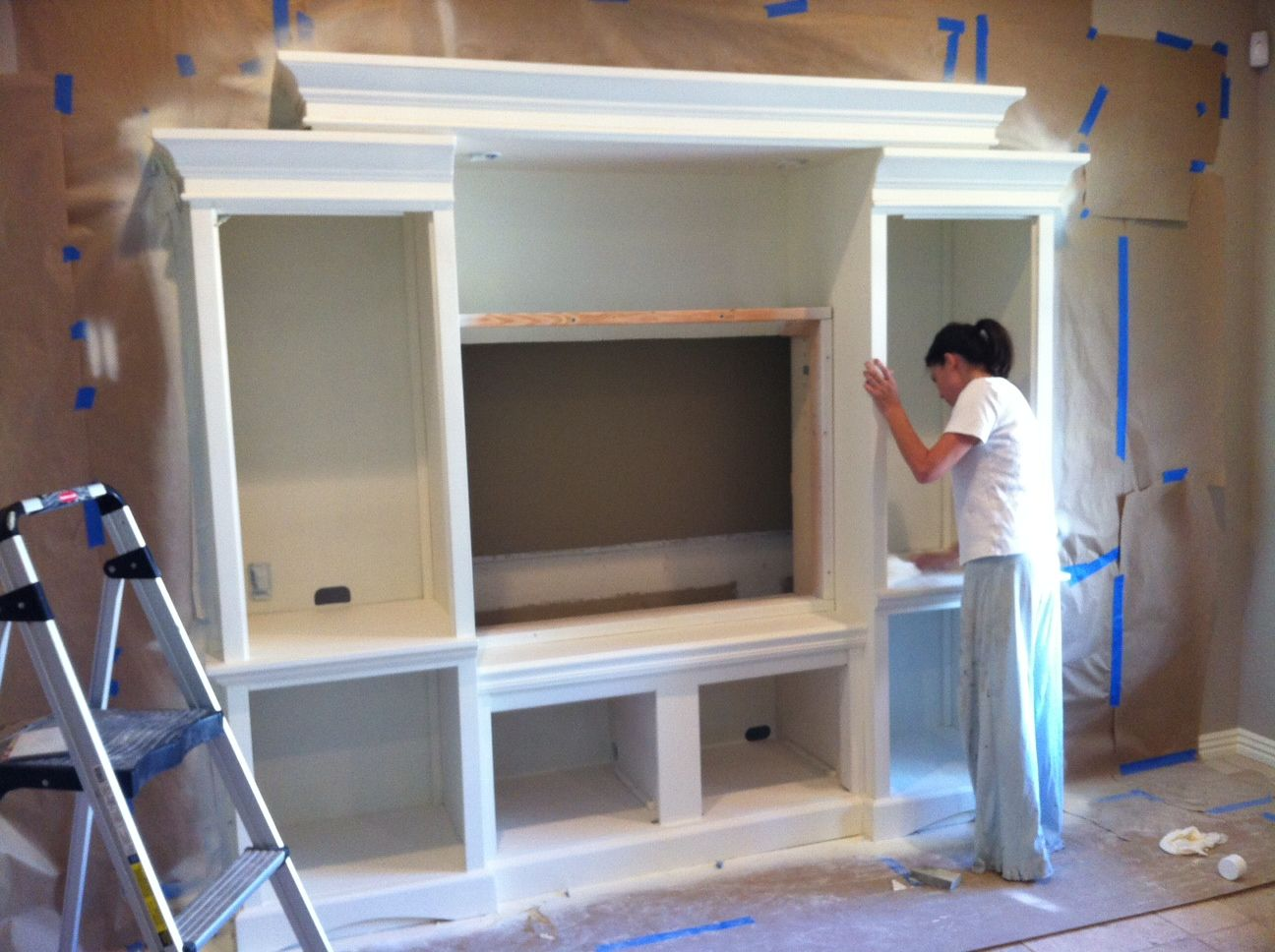 Built In Entertainment Center Design Ideas custom built entertainment center Decor Ideas In This Post We Show How We Used A Second Hand Entertainment Center And Built It