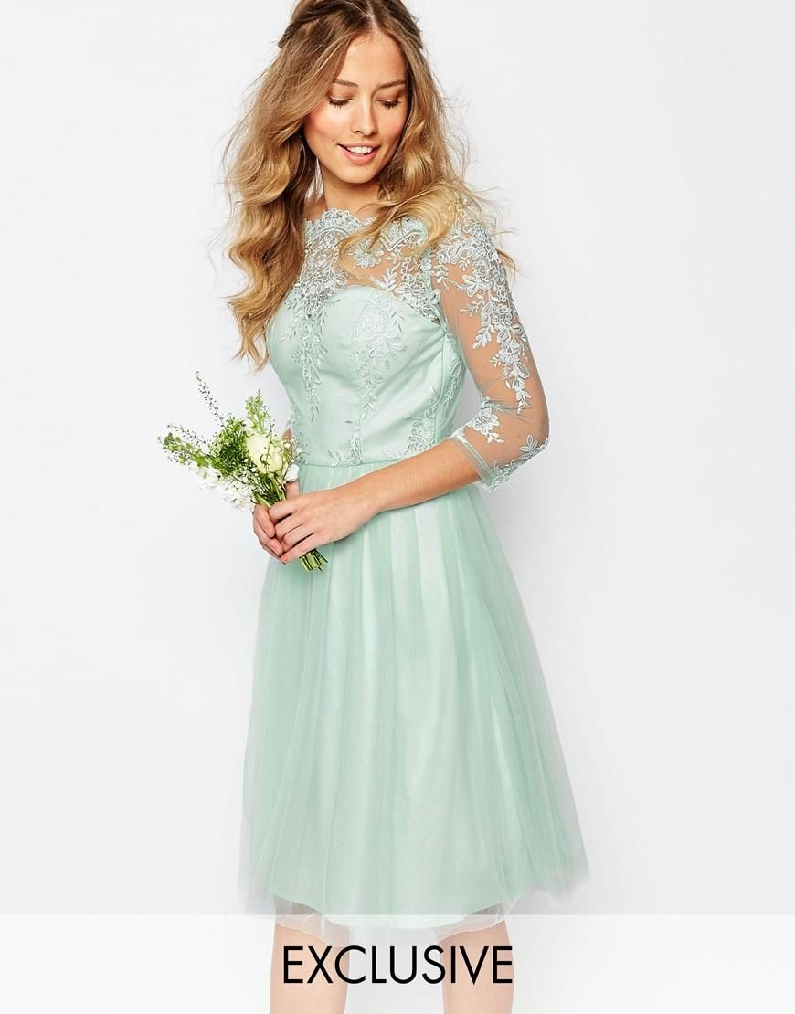 2016 Spring Mint Green Lace Bridesmaid Dresses For Junior Girls ...