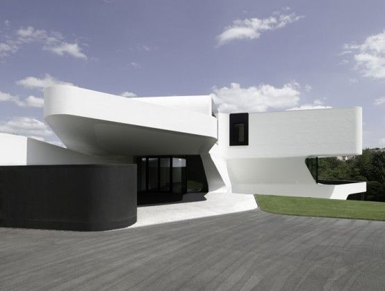 Can Spend Some Time Here Dreaming Away Futuristic Home Contemporary Architecture Modern House Design