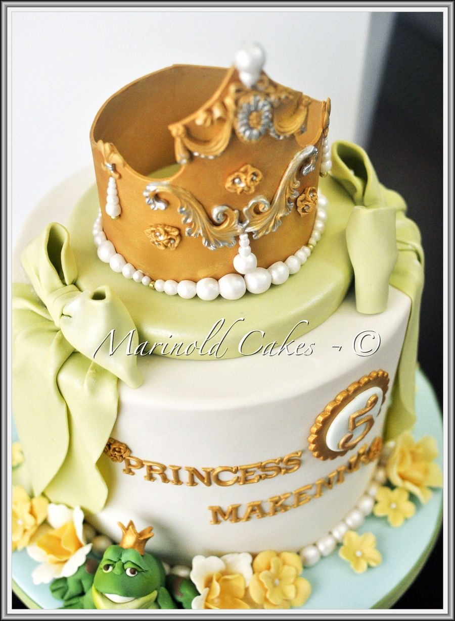 The Princess And The Frog Cake Parties Pinterest Frog Cakes