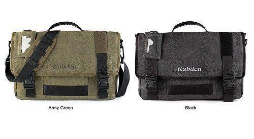 Kabden 8601 Mens Canvas Bag Sling Shoulder Womens Bags Army Green / Black 10L #Kabden