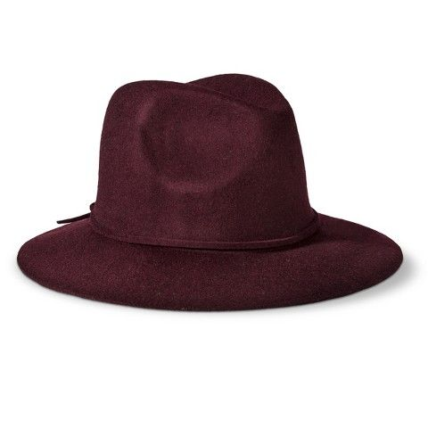 Mossimo Supply Co. Solid Fedora Hat - Burgundy 1956be0629a