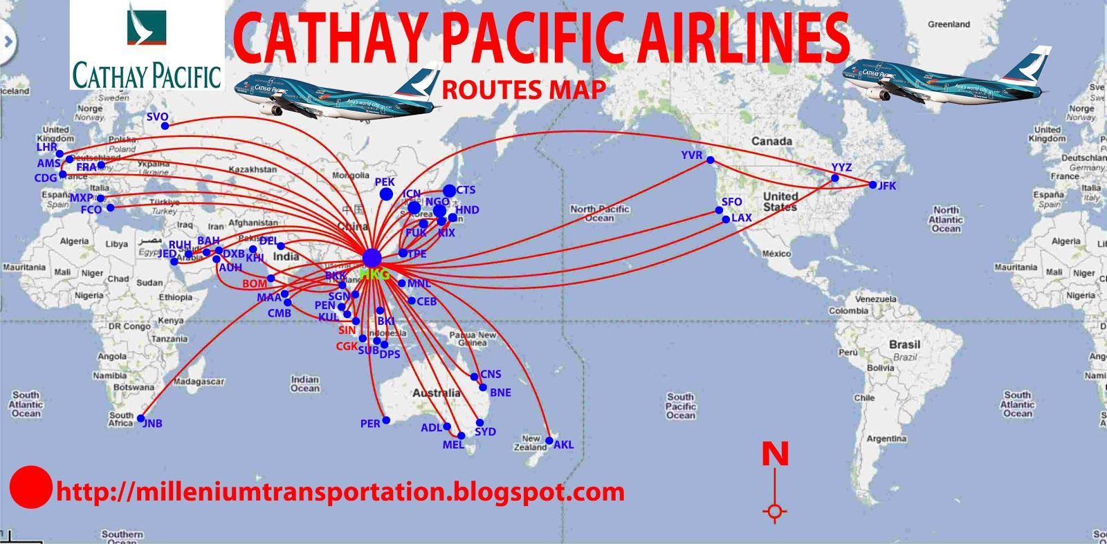 Cathay Pacific route map Route map, Cathay pacific, Route