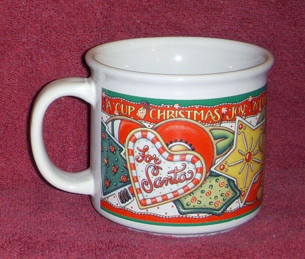 Christmas Joy Coffee Mug Santa Candy Cane Gingerbread Soup Unknown Santa Candy Christmas Joy Christmas Plush
