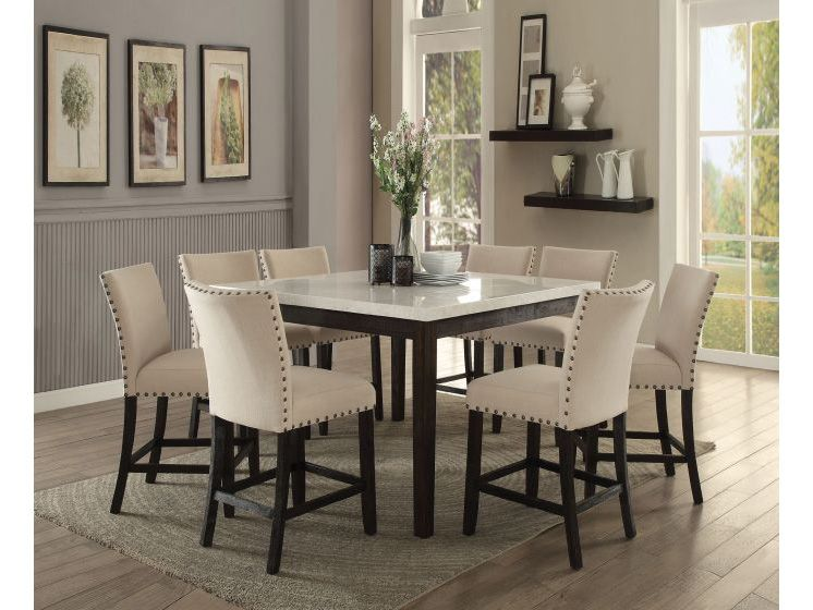 Nolan White Marble Top Counter Height Dining Set Shop For Affordable Home Furniture Decor Outdoors And More In 2020 Counter Height Dining Sets Dining Room Sets Marble Tables Living Room