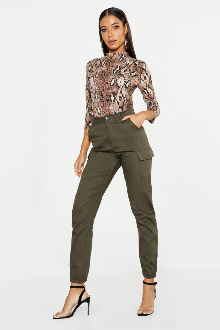 Woven Cargo Pocket Trouser Khaki Trousers take on a