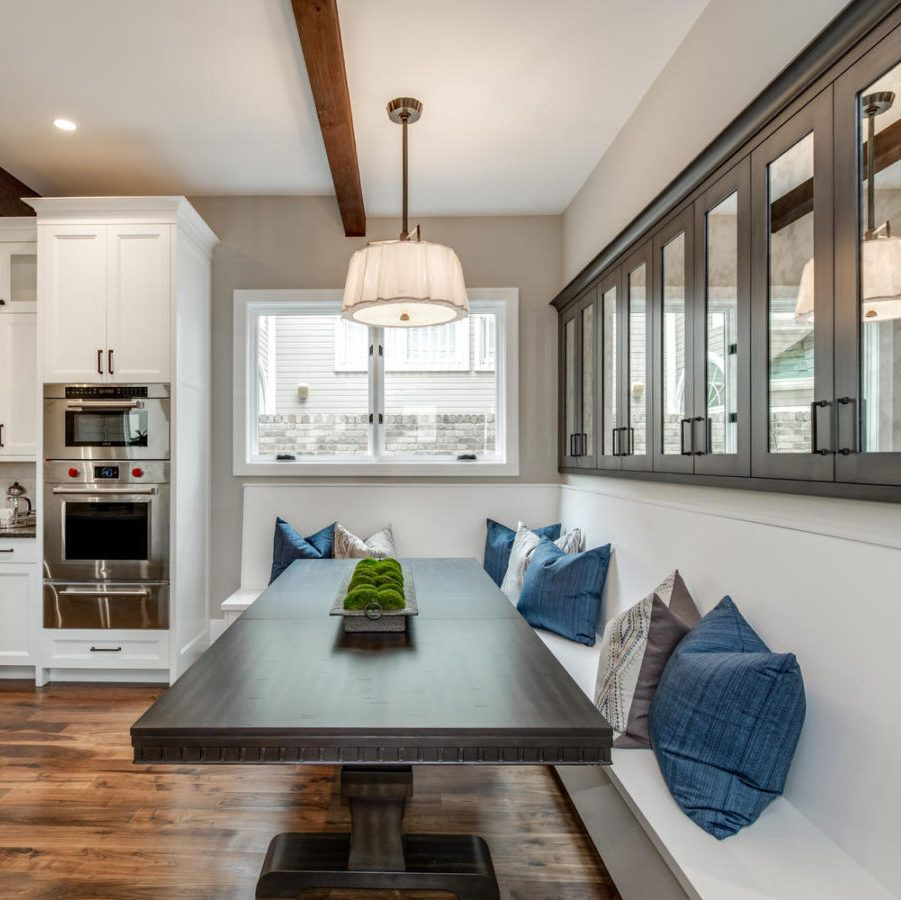 Astounding Denver Transitional Dining Nook Residential Interior Home Interior And Landscaping Elinuenasavecom