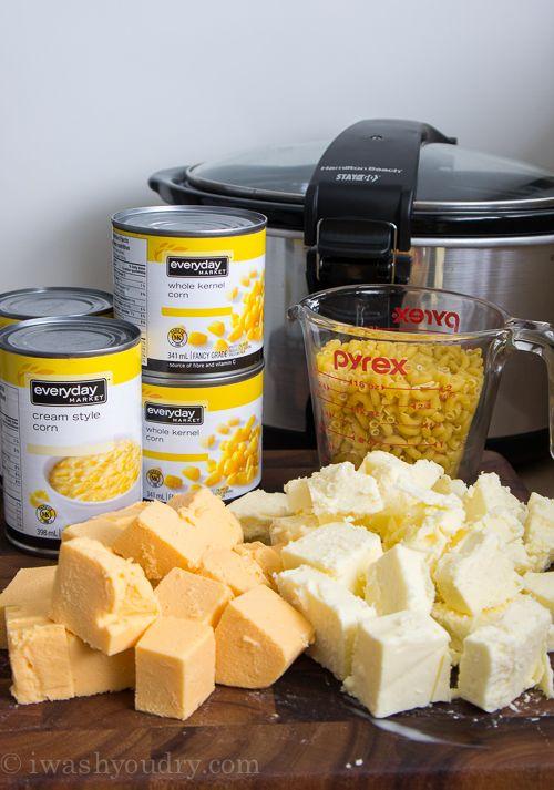 Slow Cooker Macaroni and Corn Casserole