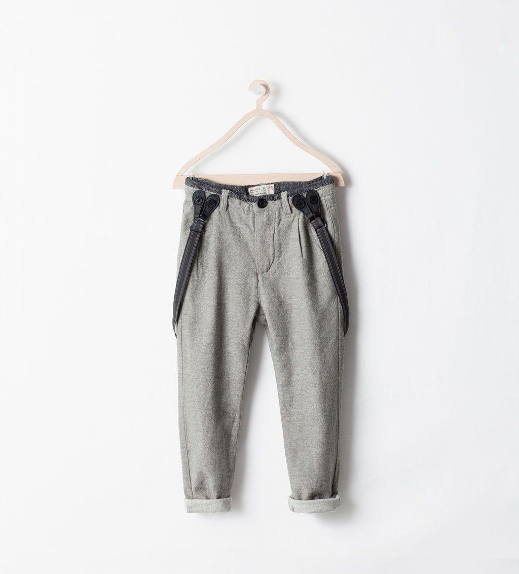 Zara Kids Contrast Braces Trousers Pantalones Para Ninos Ropa Para Ninas Ropa
