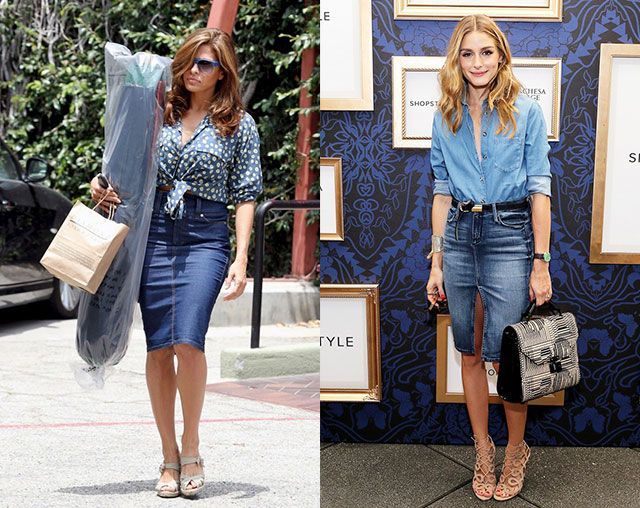 Denim skirt ouftit- summer 2015 trend | Style 2015 | Pinterest ...