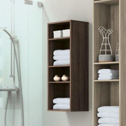demi colonne de rangement suspendu pour salle de bain mod le ouvert avec 3 tag res de. Black Bedroom Furniture Sets. Home Design Ideas