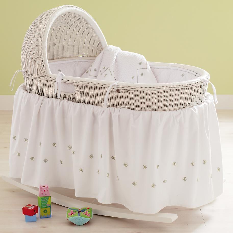 Transparenter Babykorb Leichte Harmonie Babybjorn | Baby Bassinets Baskets Baby White Hand Woven Bassinet In Cribs