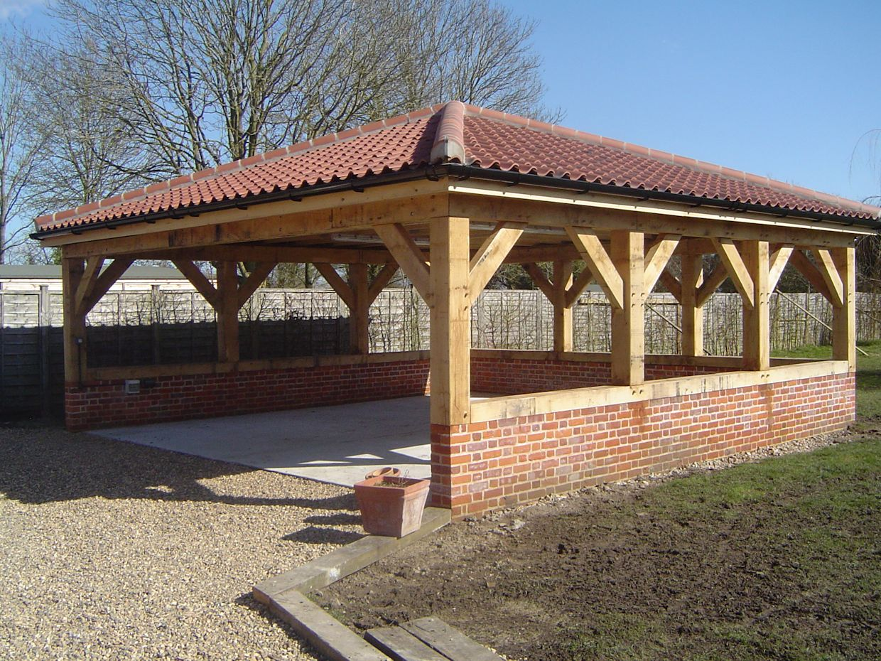flat roof oak carport Google Search Outdoor pavillion