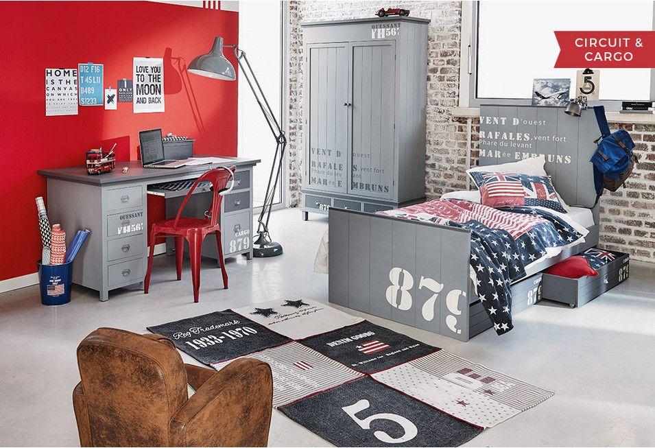 Camera bambino mobili e idee d 39 arredo maisons du monde janine youth rooms teen boy - Deco industrielle chambre ...