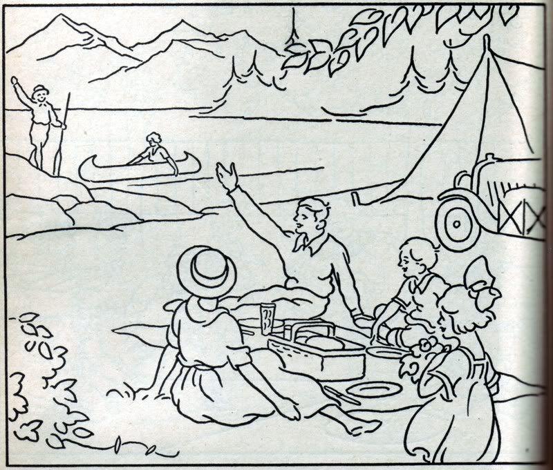"Amusements"" - Mormon History Coloring Book, 1923: April ..."