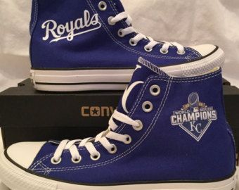 3ffbb7e8d735b2 Available now!! Size 5 7 Kansas City Royals Converse Chuck Taylor Hi ...