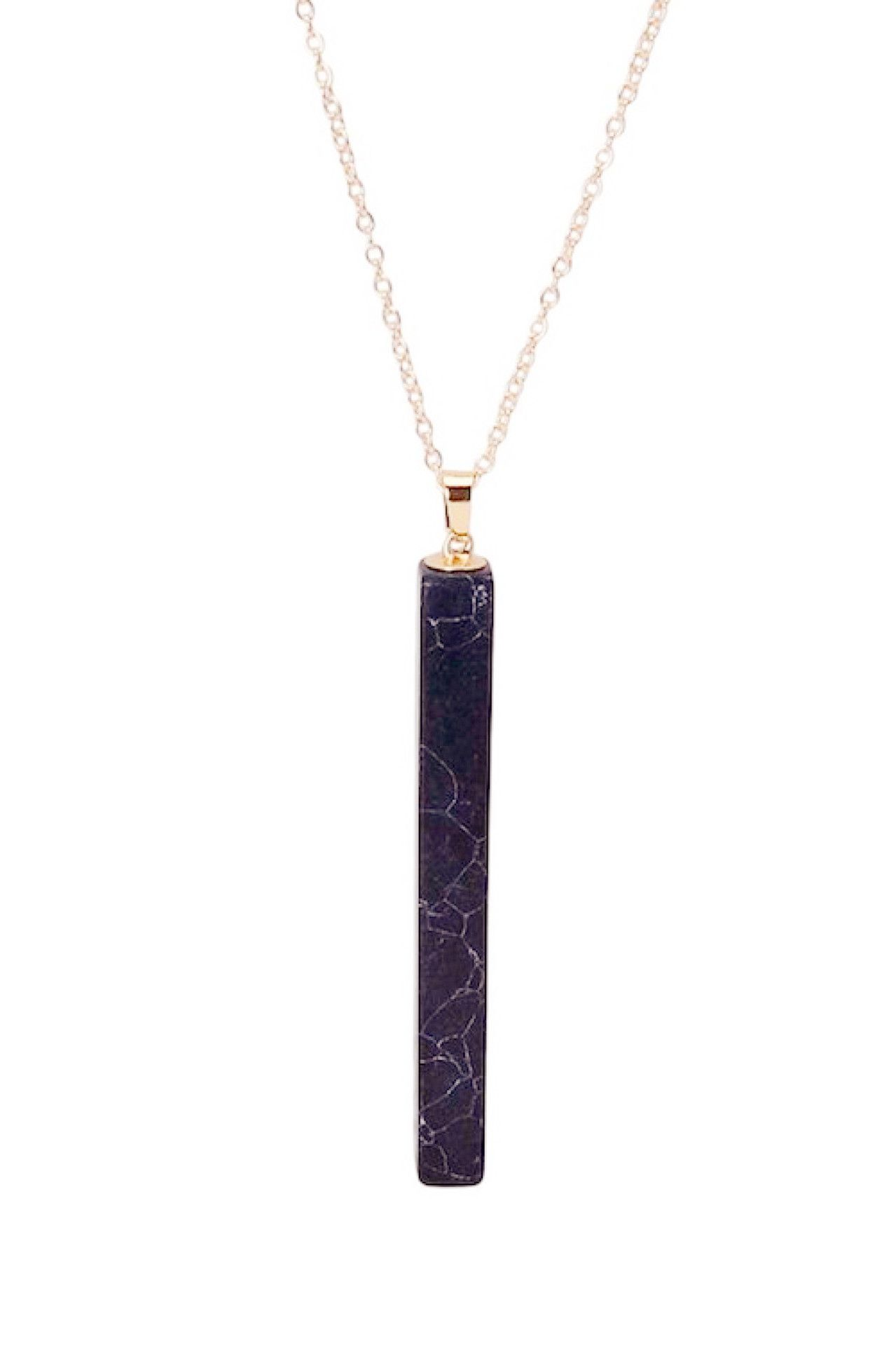 with gold precious stone products rose semi link necklace bar semiprecious pendant cut pendants