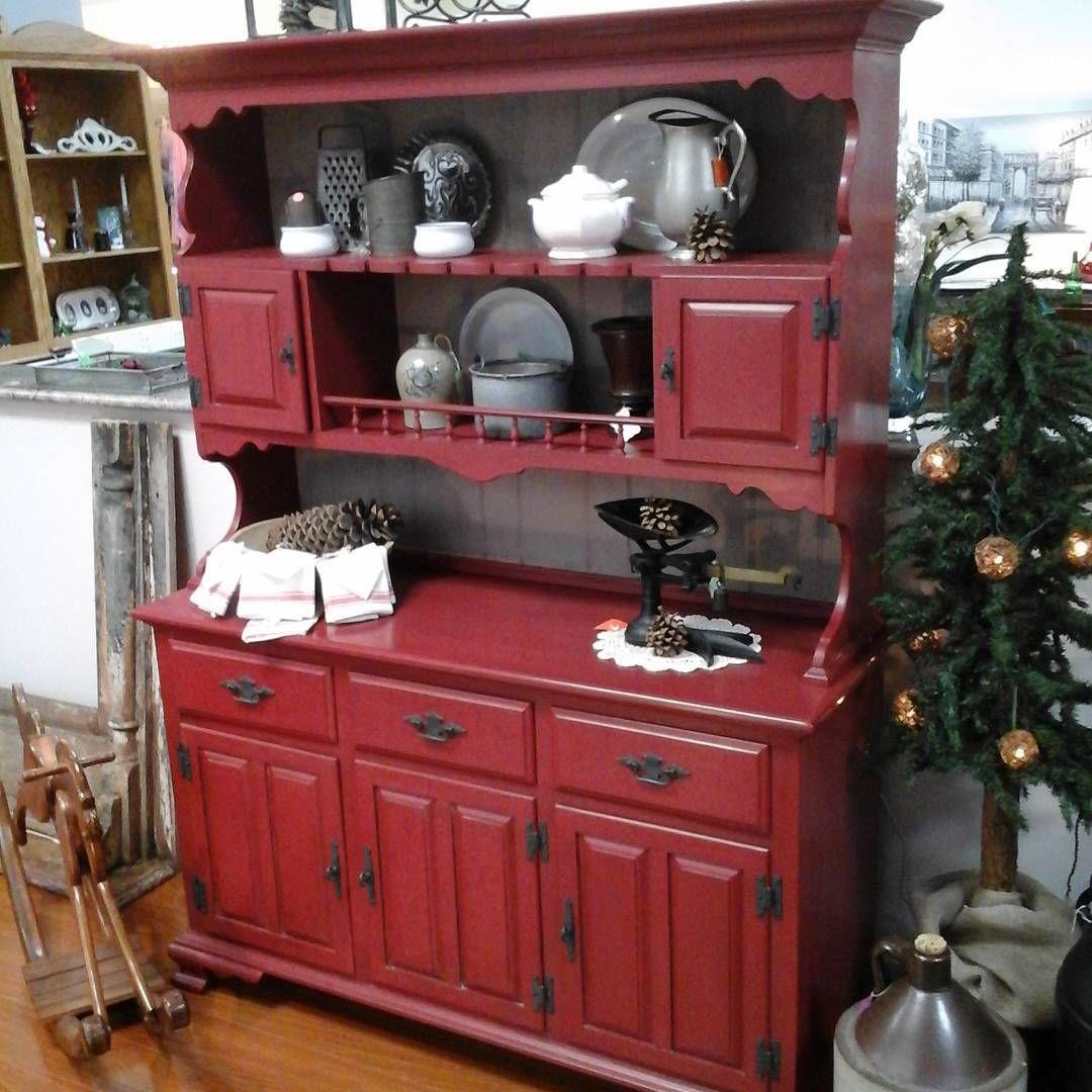 Hutch Done In #cececaldwell Albermarle Red. #timelesstreasureschester  #chesterva #rva #furniture