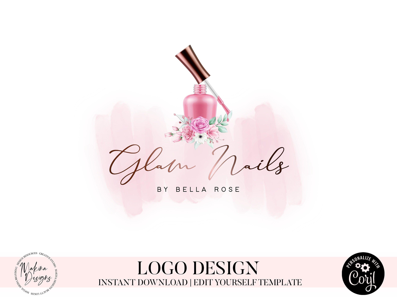 NAIL ARTIST LOGO, Nail Logo, Nail Artist, Nail Polish Logo