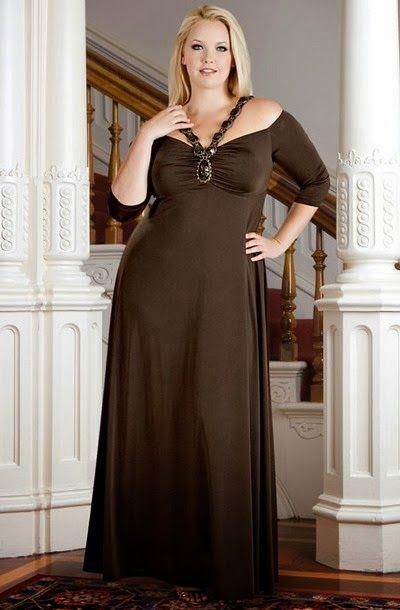 Vestidos largos elegantes talla grande