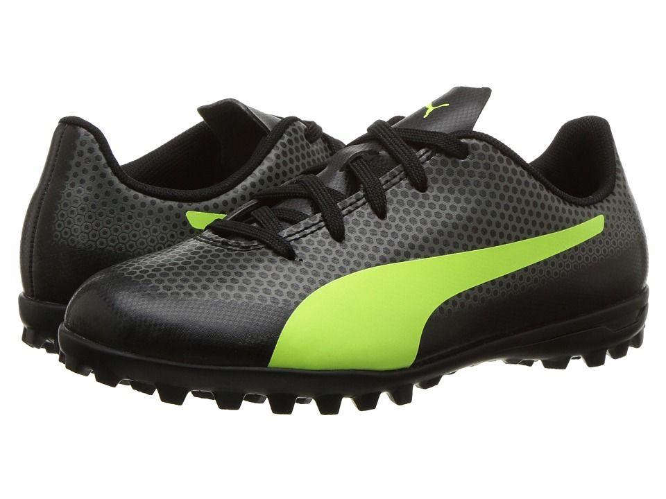 c869f272436 Puma Kids Spirit TT Soccer (Little Kid Big Kid) Kids Shoes Puma Black Fizzy  Yellow Castor Grey