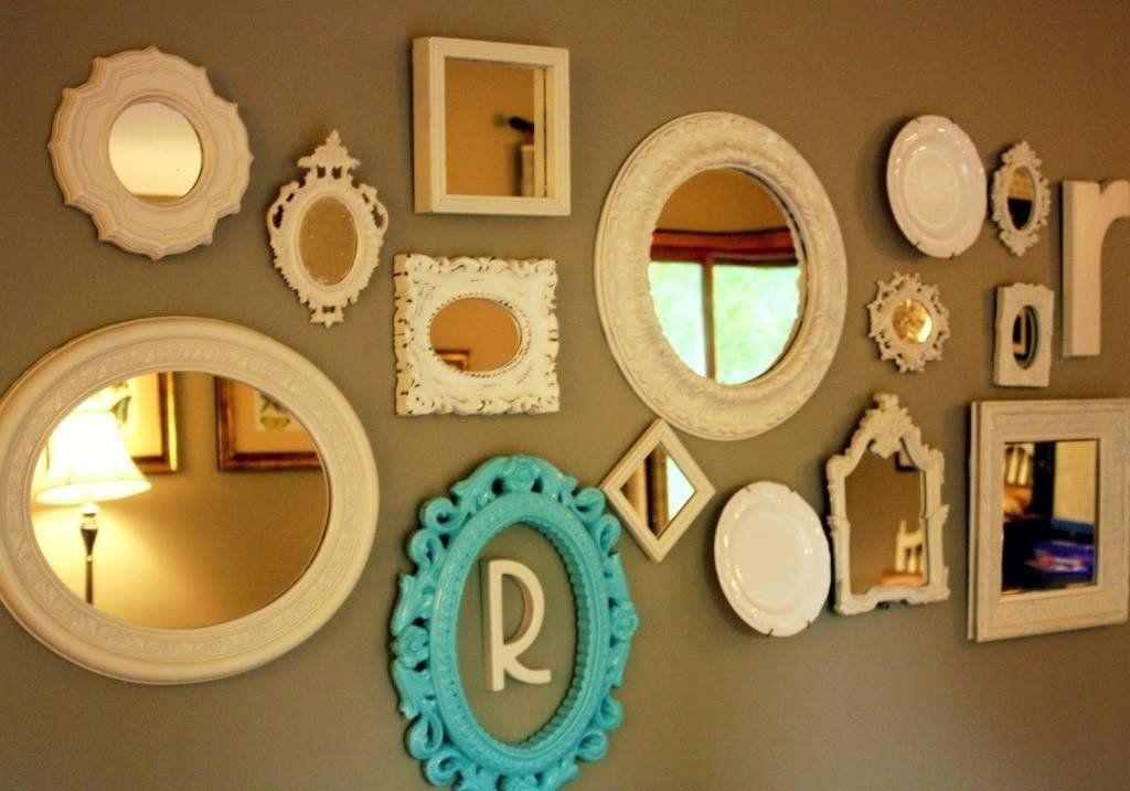 Small Mirrors For Wall Decor Inspirational 15 Best Ideas Of Small Decorative Wall Mirror Sets In 2020 Mirror Wall Collage Simple Wall Decor Family Wall Collage
