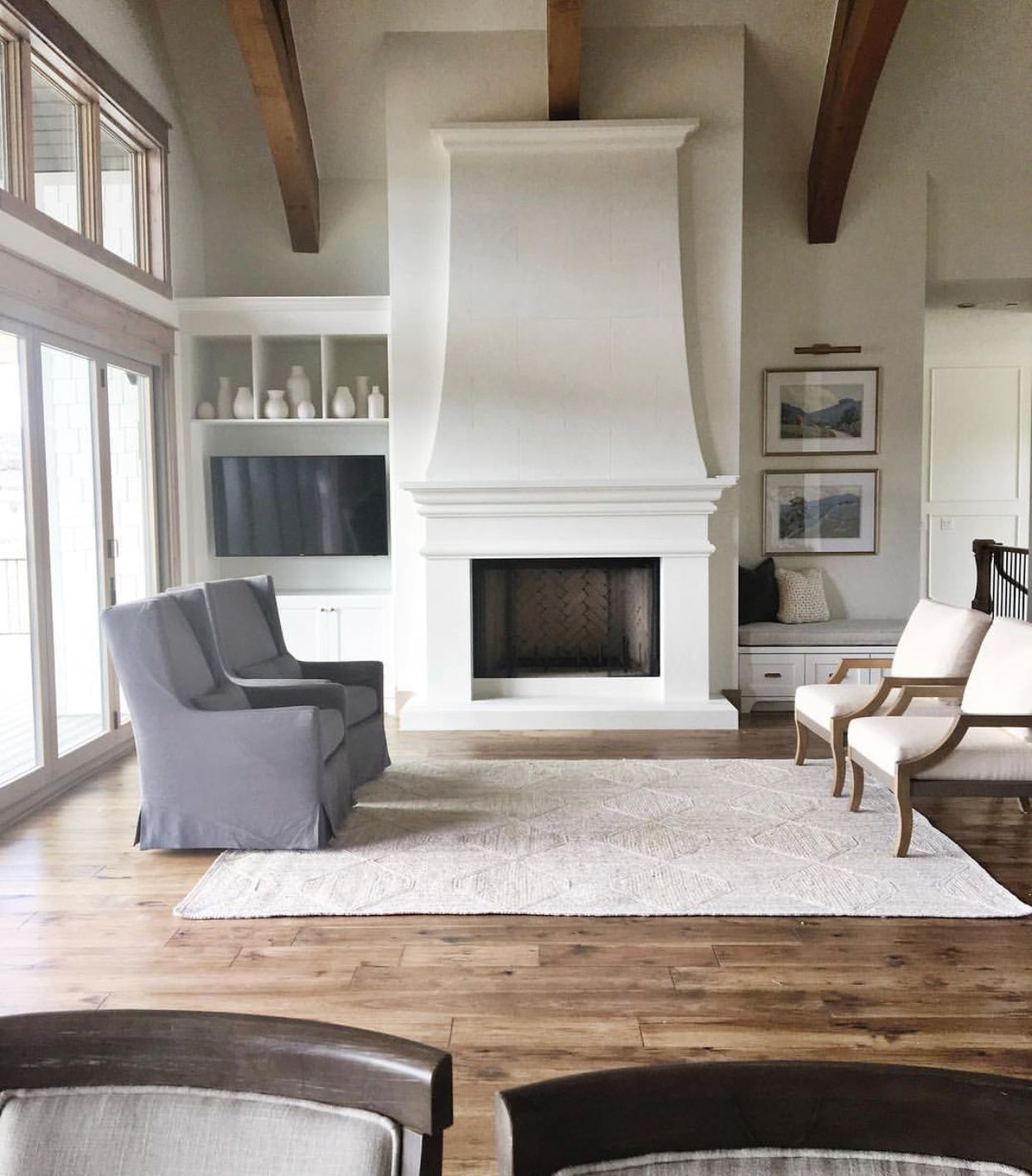 Love The Rug And Flooring Home Fireplace Home Home Remodeling