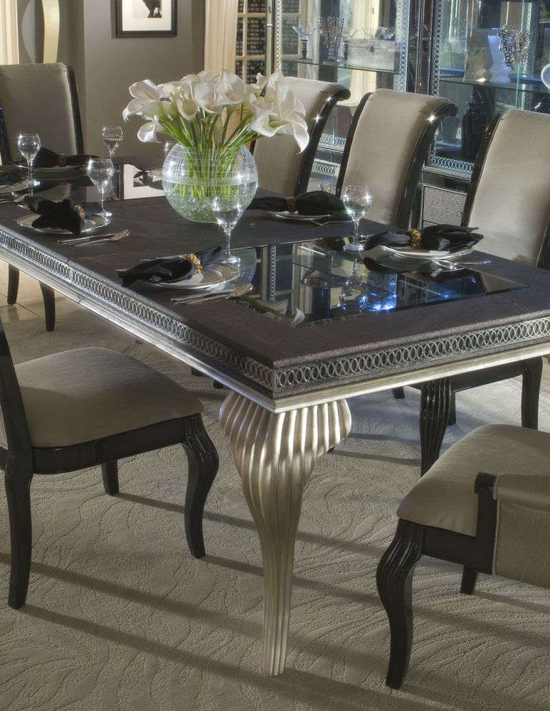 Hollywood Swank Leg Dining Table By AICO