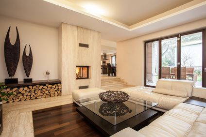 Gut Wohnzimmer Dunkler Boden Helle Möbel